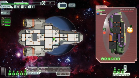 This is pretty much how the game always looks. You can move your crewmen around to different areas of the ship for added bonuses.