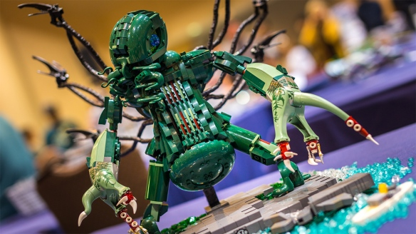 Lego Cthulhu is now one of my favourite Cthulhus / Photo: Norman Chan, http://www.tested.com/art/lego/457092-bricks-bay-carl-merriams-cthulhu-lego-moc/